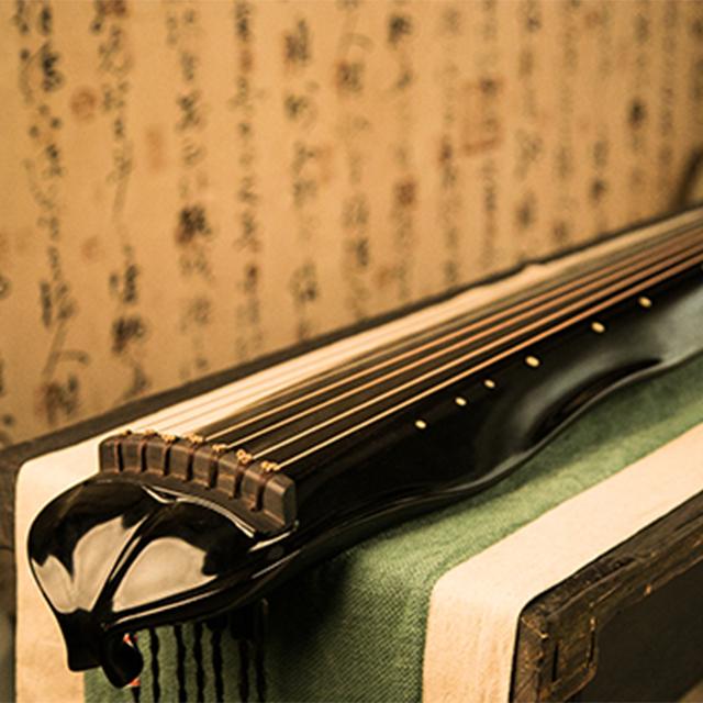 木乙-鹤鸣-蕉叶式古琴 J-01